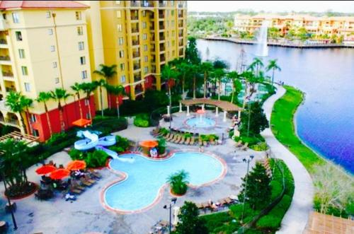 A view of the pool at Wyndham Bonnet Creek Resort or nearby
