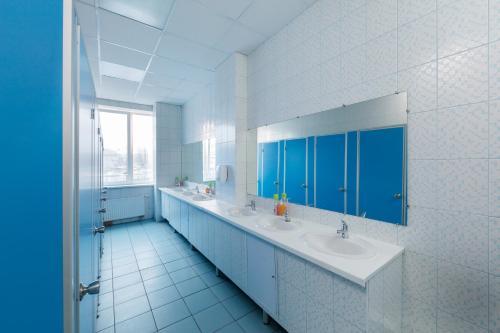 Ванная комната в Аква Хостел