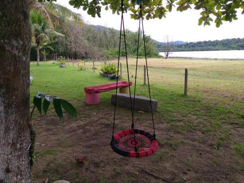 Children's play area at Canto Caiçara Hostel