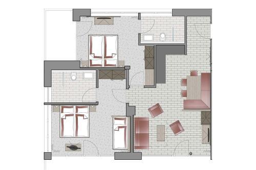 The floor plan of Gamskogelblick