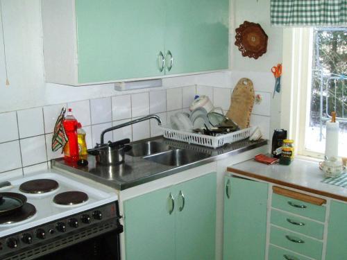 Ett kök eller pentry på One-Bedroom Holiday home in Vara