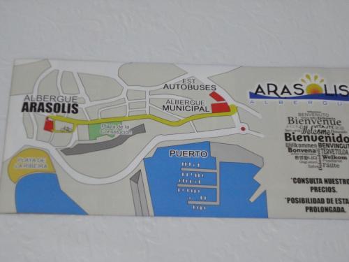 The floor plan of Albergue Arasolis