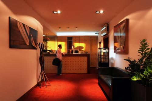 The lobby or reception area at Art Hotel Prague