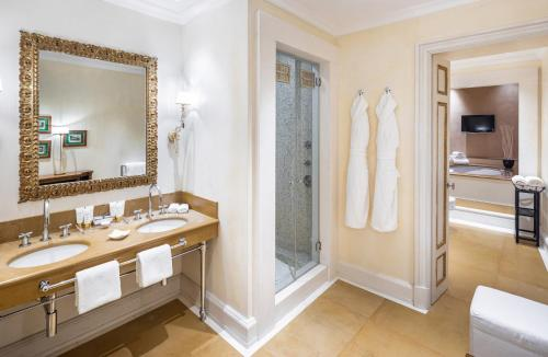 A bathroom at Baglioni Relais Santa Croce, Florence