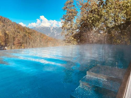The swimming pool at or close to Das Graseck - my mountain hideaway