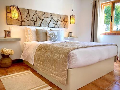 Cama o camas de una habitación en Herdade Monte Do Sol
