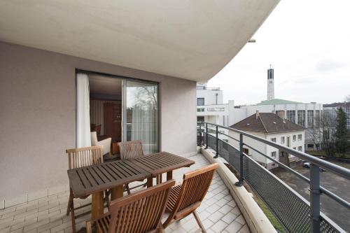 A balcony or terrace at Le Jean-Sébastien Bach