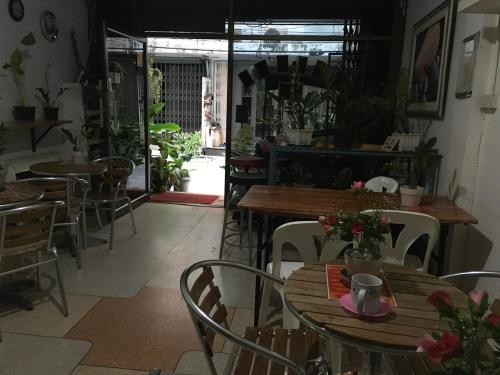 A restaurant or other place to eat at Hostel 24