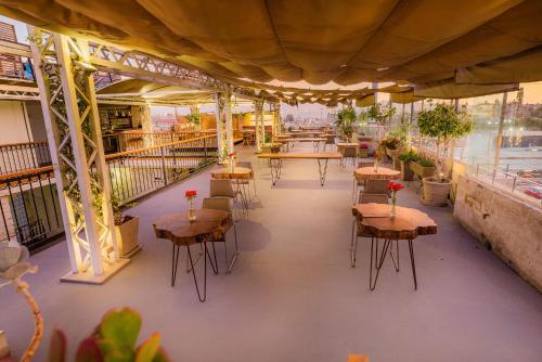 Reštaurácia alebo iné gastronomické zariadenie v ubytovaní Palla Boutique Hotel