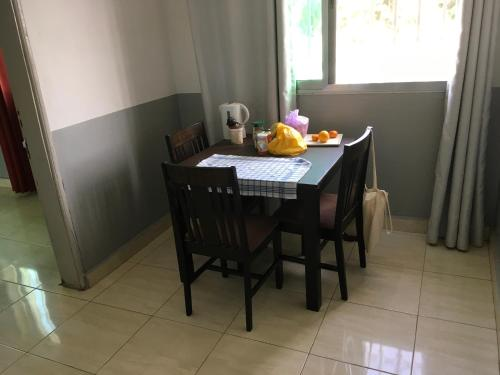 Dining area at the guesthouse