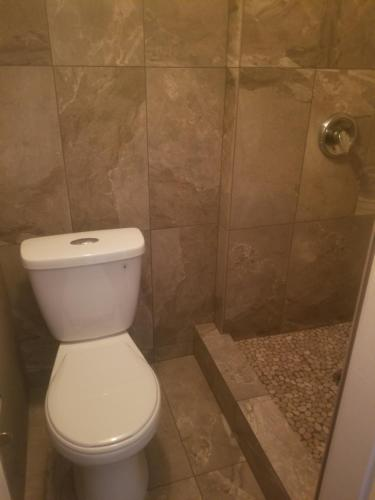 A bathroom at Red Shutter Inn