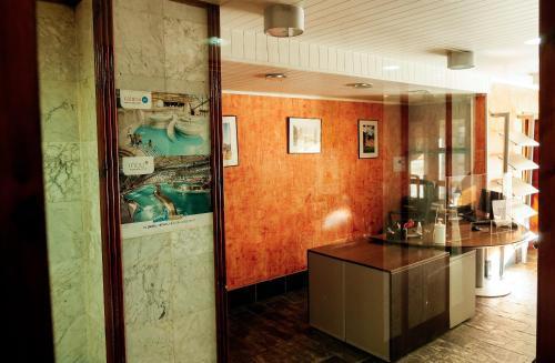The lobby or reception area at Kione Calgary