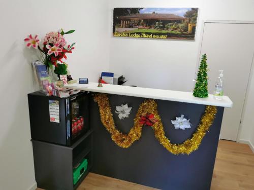 The lobby or reception area at Ballarat Eureka Lodge Motel