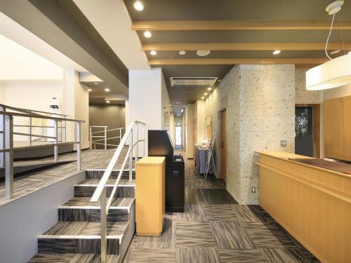 The lobby or reception area at Asakusa Hotel Hatago