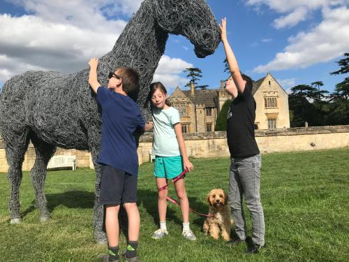 A family staying at Ellenborough Park