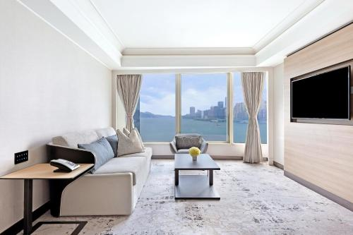 A seating area at Harbour Grand Kowloon