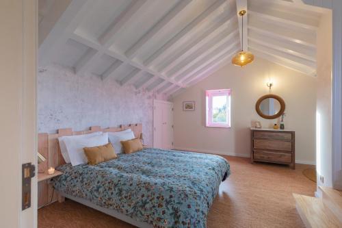 Uma cama ou camas num quarto em Chão do Rio - Turismo de Aldeia