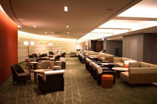 The lounge or bar area at Koreana Hotel