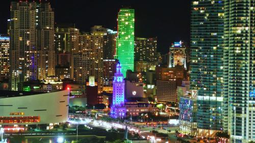 Miami Sun Hotel - Downtown/Port of Miami a vista de pájaro