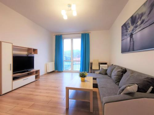 A seating area at Euro24 Apartamenty Konwalia - Gdańsk Oliwa - Blisko Sopotu