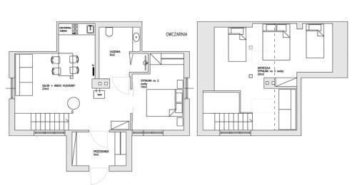 Plan piętra w obiekcie BIELICE Chatka Trapera & Co