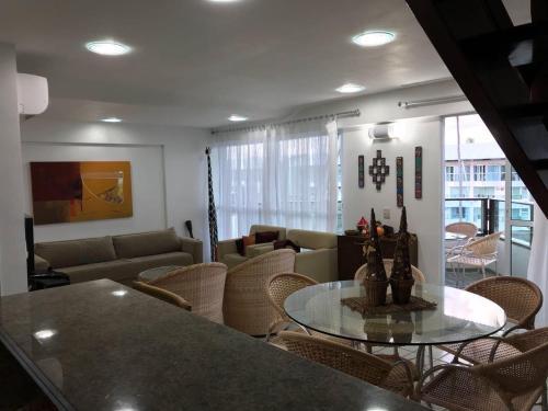 The lounge or bar area at Flat Ancorar Porto de Galinhas