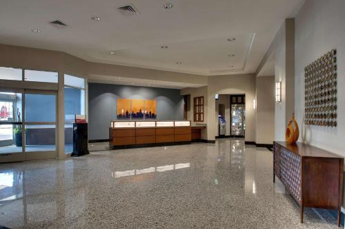 The lobby or reception area at Drury Inn & Suites Iowa City Coralville