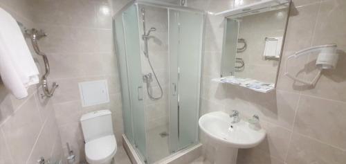 Ванная комната в Hotel Orbital