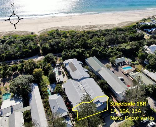 A bird's-eye view of The Byron Beachcomber