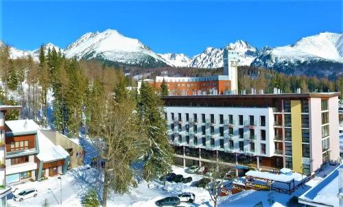 Hotel Crocus during the winter