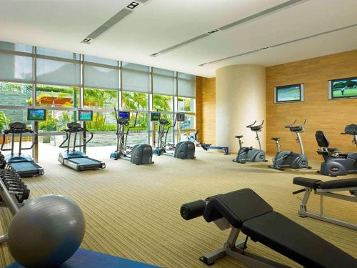 The fitness center and/or fitness facilities at Novotel Citygate Hong Kong