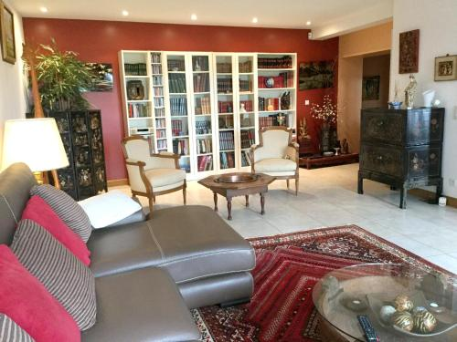 A seating area at Villa with 5 bedrooms in Bourre with private pool enclosed garden and WiFi 4 km from the beach