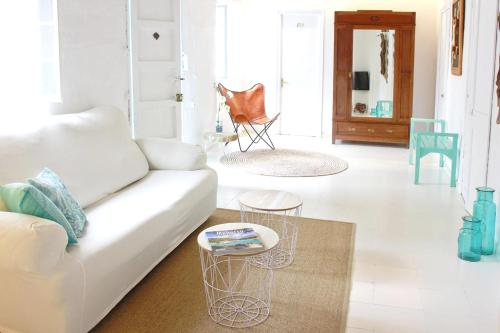 A seating area at House with 4 bedrooms in Mao with WiFi 5 km from the beach