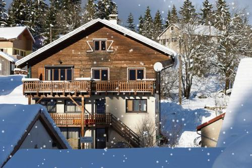 L'établissement Chalet with 7 bedrooms in Les Moussieres with wonderful mountain view furnished terrace and WiFi 600 m from the slopes en hiver