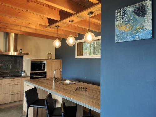 Cuisine ou kitchenette dans l'établissement Spalazen Nature