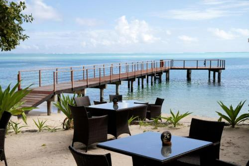 A restaurant or other place to eat at Hotel Le Mahana