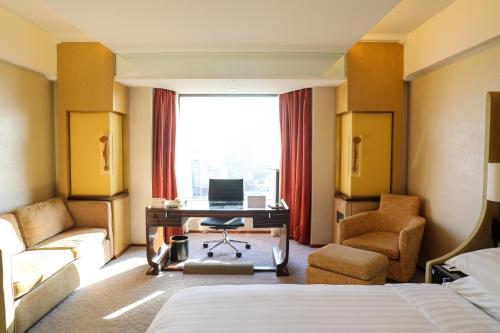 منطقة جلوس في فندق شانغري-لا بكين