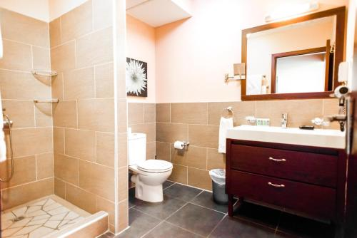 A bathroom at Hotel Sarah Nui