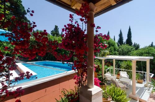 The swimming pool at or close to Villa with 4 bedrooms in Mlini with wonderful sea view private pool enclosed garden 50 m from the beach