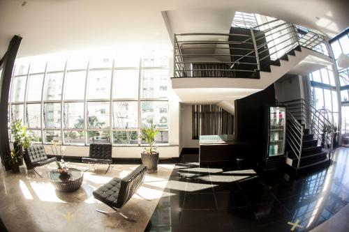 The lobby or reception area at Maravilhoso Apart-hotel.