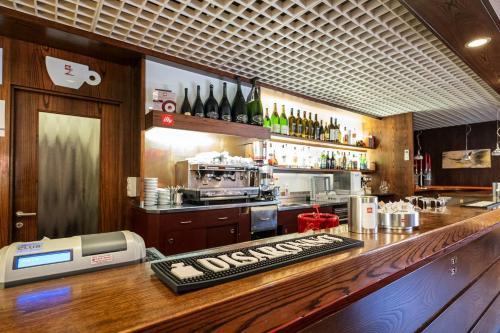 The lounge or bar area at Hotel Bella Venezia