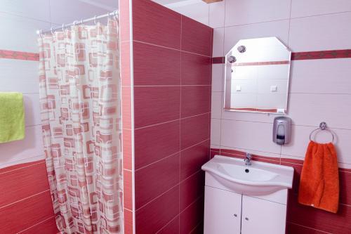 Koupelna v ubytování APARTMÁN CABERNET