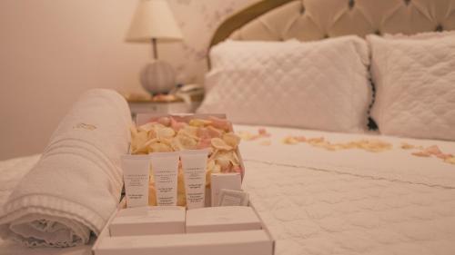 Hotel Boutique Recanto da Passagemにあるベッド