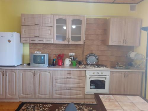 A kitchen or kitchenette at Guest House Viktoria