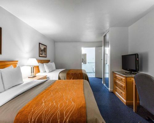Un ou plusieurs lits dans un hébergement de l'établissement Comfort Inn & Suites Sequoia Kings Canyon - Three Rivers
