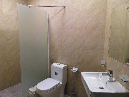 A bathroom at Motel Sham