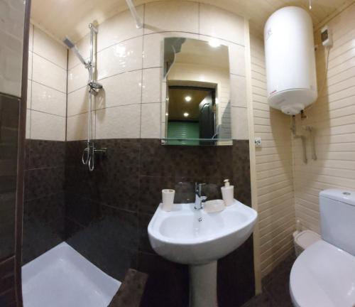 A bathroom at Sadyba Markevychiv