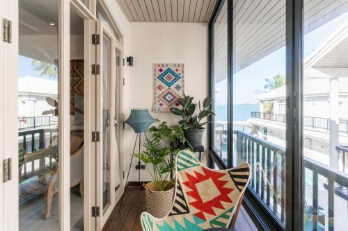 A balcony or terrace at B House Samui
