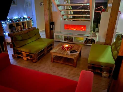 A seating area at My Brand Boardinghouse