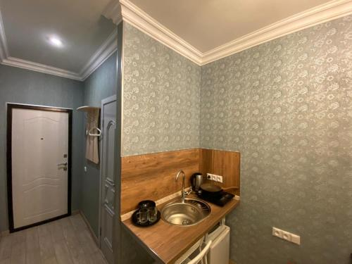 Кухня или мини-кухня в Apartments on Ligovsky 65
